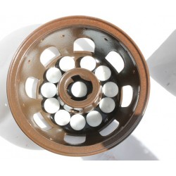 10 Teelichter außen, 1 Teelicht im Stövchen