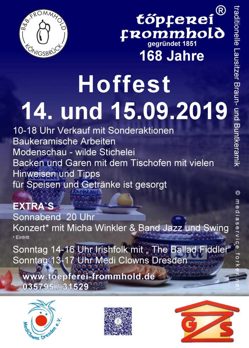 Hoffest 2019Töpferei Frommhold Königsbrück